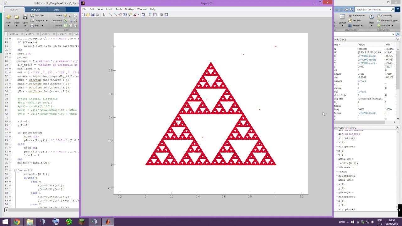 Chaos Game: Sierpinski Triangle Generation - MATLAB