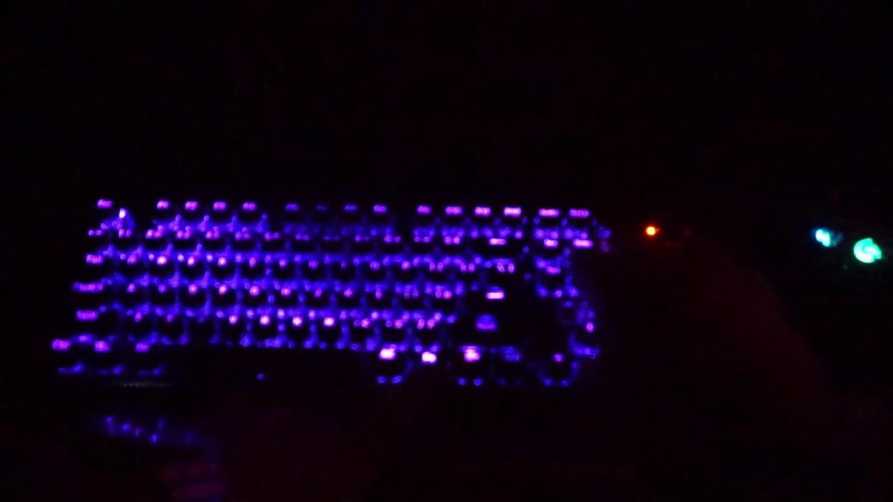 Reddragon K556 R RGB Keyboard Lighting Effect And Key Sound Test!