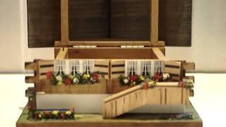 Swiss Made Wood Music Box Cabin