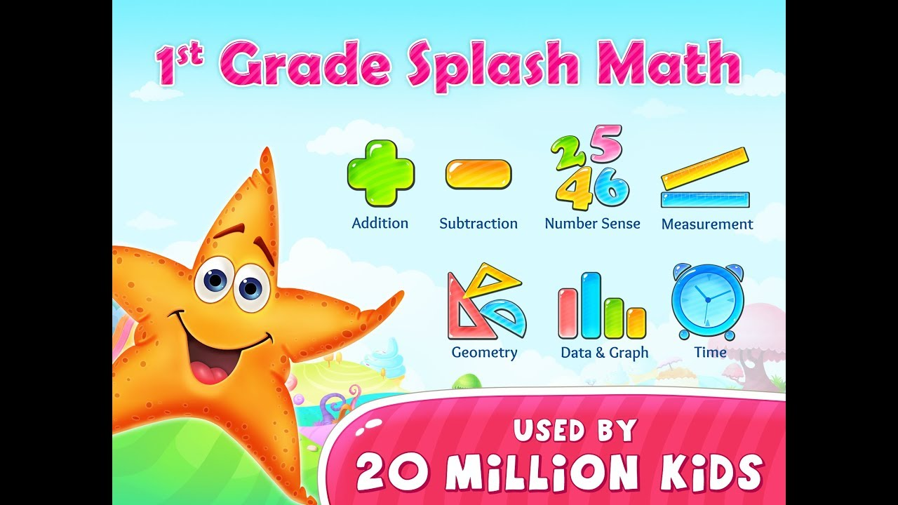 1st Grade Splash Math Games. Kids practice counting numbers 123 ...