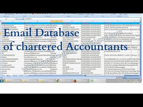 Email Database of Chartered Accountants