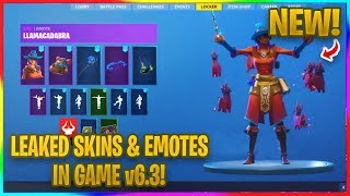 *NEW* v6.30 FORTNITE LEAKED SKINS, EMOTES, GLIDERS AND PICKAXES! | Fortnite In Game Leaks