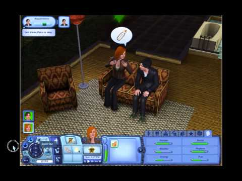 The Sims 3 Ep.1 Levi & Petra, they can't cook.