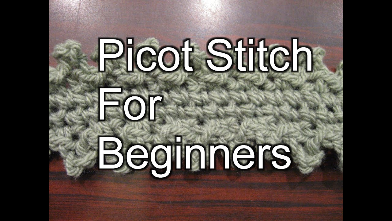 Crochet Picot Stitch Slow Motion Crochet Youtube