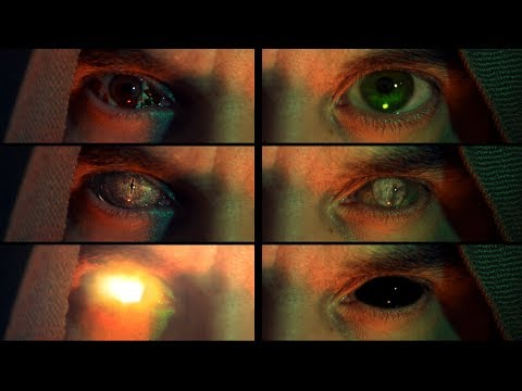 6 eye effects - After Effects tutorial  |  Bloody,  zombie, reptile, glowing, black and big eyes