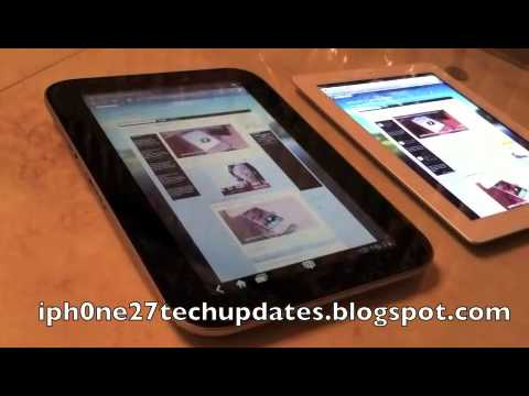 Exclusive Lenovo Ideapad K1 vs White iPad 2 Browser Speed Test