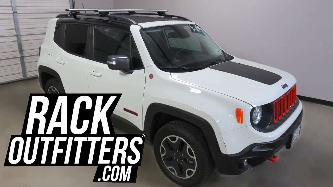 Jeep Renegade With Thule Rapid Crossroad Roof Rack