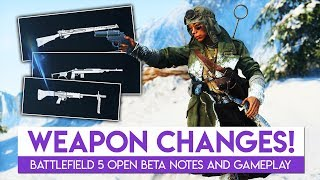 Weapon and Gunplay Changes in the Battlefield 5 Open Beta | Battlefield 5 Beta Gameplay