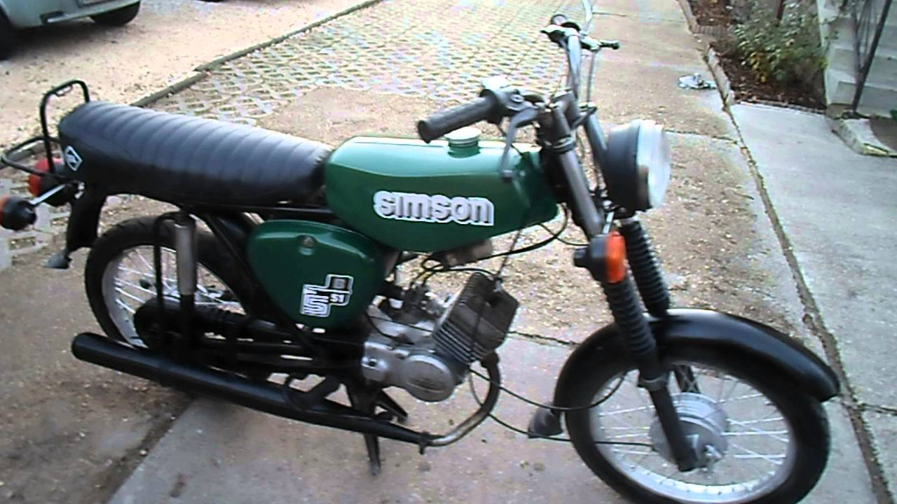 simson s51 60 km h dank ddr bj 1981 dunkelgr n youtube. Black Bedroom Furniture Sets. Home Design Ideas