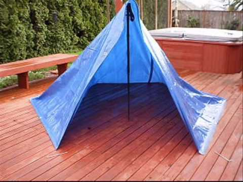 8x10 Tarp Shelter & 8x10 Tarp Shelter - YouTube