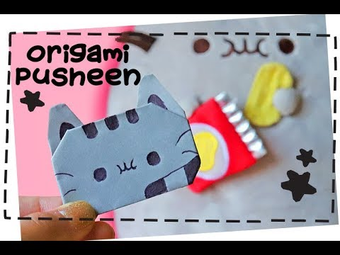 How to Make an Origami Pusheen the Cat | Easy Instructions for Kids