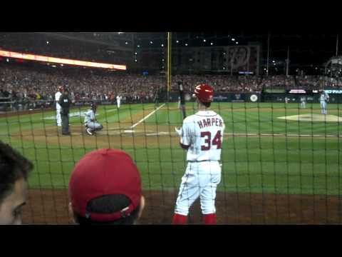 Washington Nationals Jayson Werth Walk Off HR NLDS Game 4 (Full At-Bat From Front Row)