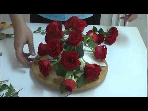 การจัดดอกไม้ทรงแนวนอน