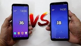 Samsung Galaxy J8 Vs J6 Comparison And SpeedTest I Hindi