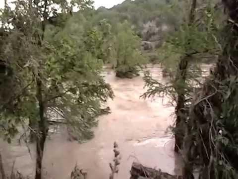 Pedernales River after flood - YouTube