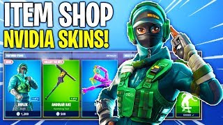 Fortnite Item Shop! EXCLUSIVE NVIDIA SKINS IN SHOP! Daily & Featured Items!