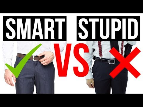 5 Belt Mistakes That Make You Look Stupid | Rules For Wearing Belts & When To Go Beltless