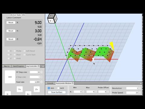 WIP UGS Autolevel Demo - YouTube