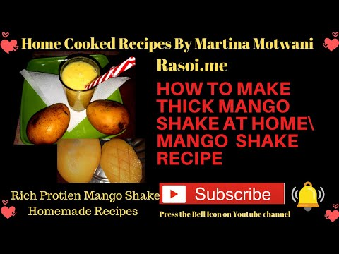 How to make Delicious Thick Mango Shake Without Condense milk Recipe #stayhome #covid_19 #corona