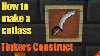 Minecraft tutorial: How to make a cutlass - Tinkers Construct