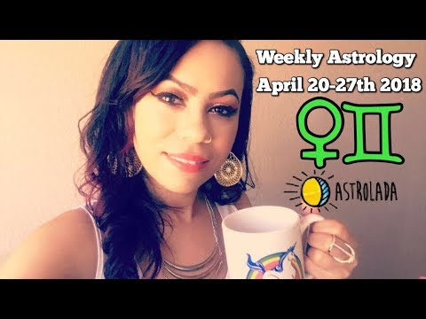 Weekly Horoscope for Apr 20th - 27th 2018 & Celebrity Coffee