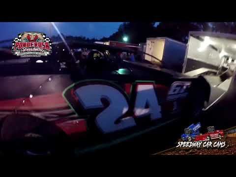#24 Terry Cheeks- Crate Late Model - 8-2-19 Ponderosa Speedway - In-Car Camera