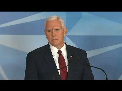 Mike Pence says U.S. supports NATO, but wants allies to pay more