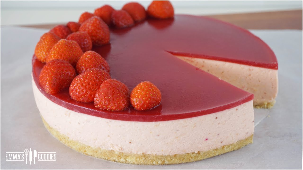 Strawberry Jello Cake Recipe Frozen Strawberries: Fresh Strawberry Mousse Cake Recipe ( Strawberry Jello