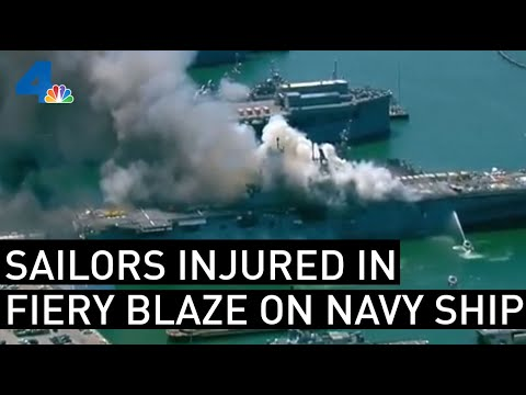 Sailors Injured in San Diego Ship Fire | NBCLA