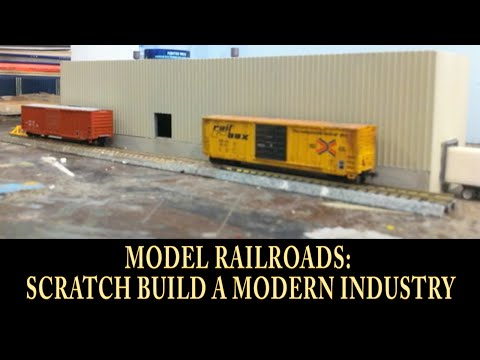 "N Scale Model Trains ""How To Make A Modern Industry"". Easy Scratch Building!"