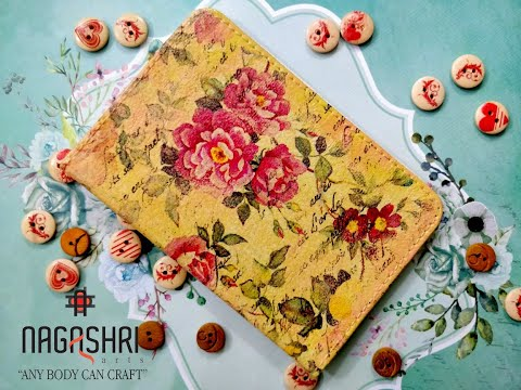 Decoupage On Faux Leather Passport Cover By Soniya Agarwal