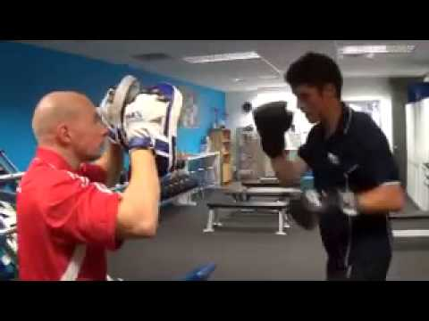 High intensity interval PT session with an elite athlete