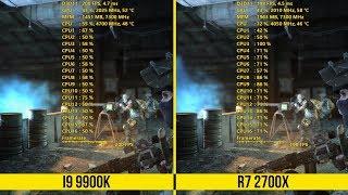 Intel i9 9900K vs Ryzen 2700X GAME BENCHMARKS!