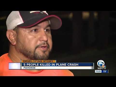 5 people killed after plane crashes into Lake Okeechobee near Pahokee airport