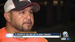 5 people killed after plane crashes into Lake Okeechobee near Pahokee airport