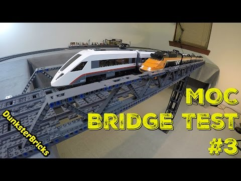LEGO MOC Railway Bridge #3 Test!