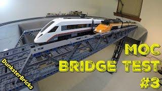 LEGO MOC Railway Bridge #3 Test!
