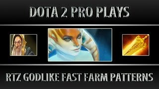 Arteezy Naga Siren ► Godlike Fast Farm Patterns ► Dota 2 [6.88f]