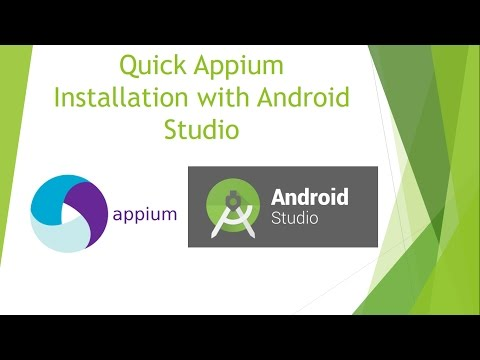 Step by step Appium Setup with Android Studio