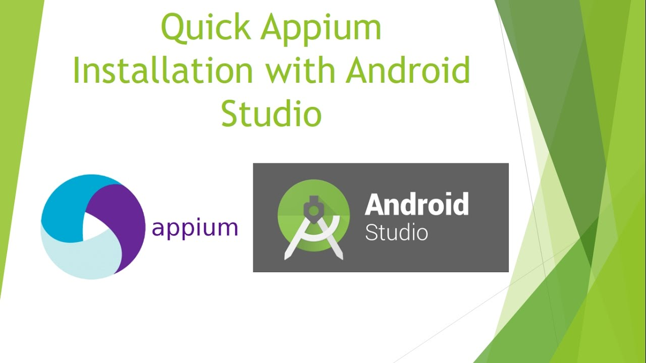 Setting up Appium with Android Studio ~ QA Automated