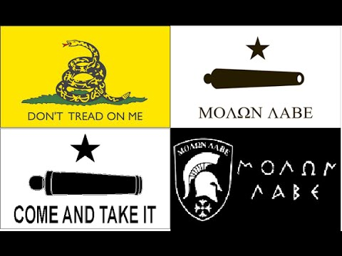 Don't Tread On Me - Come and Take It - Molon Labe - Μολων Λαβε History Of Flags & Their Meanings