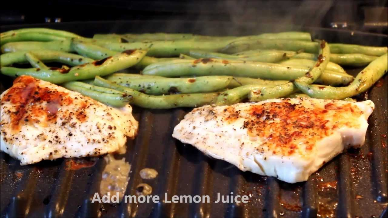 Grilled Lemon Pepper Fish Green Beans Cooking With Klf