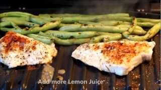 """grilled Lemon Pepper Fish & Green Beans"" - Cooking With Klf"