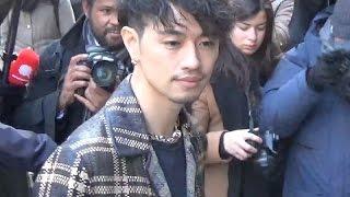 さいとう たくみ Takumi Saito 斎藤工 @ Paris Fashion Week 19 january...