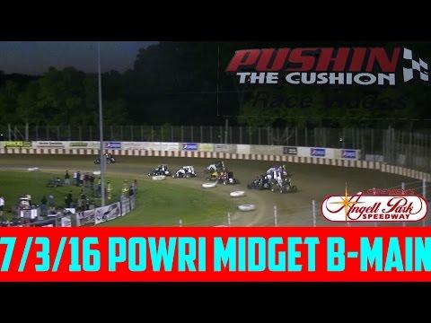 Angell Park Speedway 7/3/16 POWRi Midget B Main