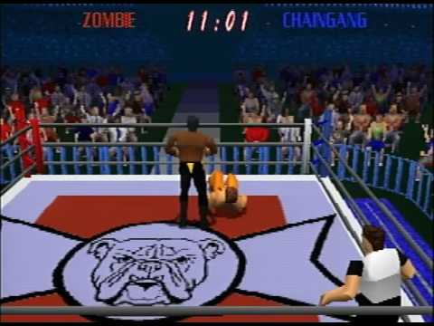 Power Move Pro Wrestling PlayStation Gameplay