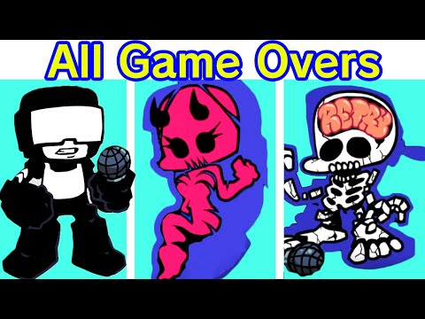 Friday Night Funkin' – WEEK 7 All Tankman Death Quotes & Game Over Screens (Funny Quotes)