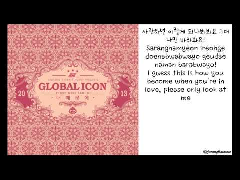 G.I. (Global Icon) - 너 때문에 (Because of You) [ENGLISH SUBS + HANGUL + ROMANIZATION LYRICS VIDEO + DL]