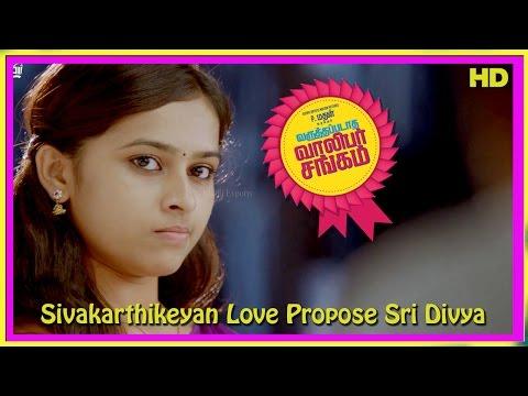 Varuthapadatha Valibar Sangam Tamil Movie   Scenes   Sivakarthikeyan Love Propose Sri Divya