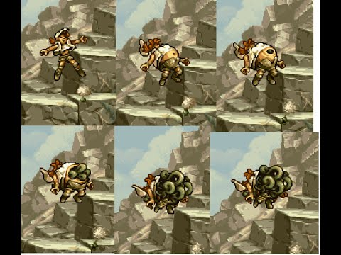 Metal Slug 3 - Fio Inflation and then burst open into vine tentacles from spores.